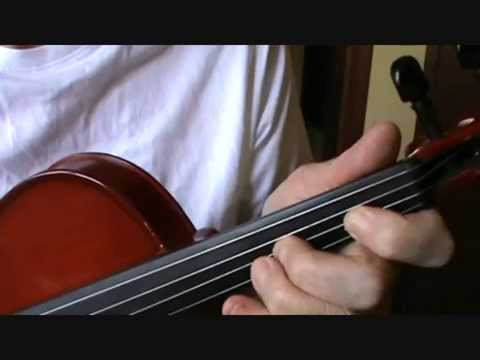 THE VIOLIN: LESSON SIX: FOUR FINGER EXERCISES FOR BEGINNERS