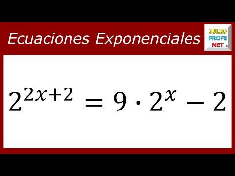 Ecuación exponencial solucionada con cambio de variable