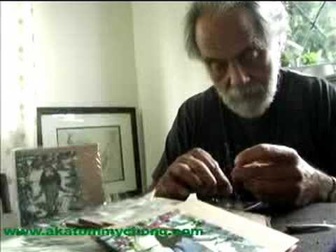 Tommy Chong smoking a dvd wrapper