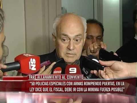 Monseñor Puiggari hablo sobre el convento de Carmelitas de Nogoyá