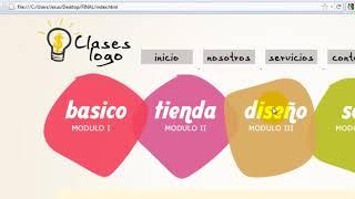 Como crear una pagina web completa en HTML - 3