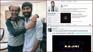 Rajinikanth's Next Movie by Pa Ranjith - Produced by Dhanush - It's Official Kollywood News 30-08-2016 online Rajinikanth's Next Movie by Pa Ranjith - Produced by Dhanush - It's Official Red Pix TV Kollywood News