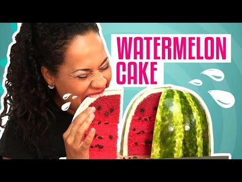 How To Make A WATERMELON out of Pink Velvet CAKE   Yolanda Gampp   How To Cake It