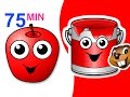 Red Apple Songs Collection | 75 Mins of Nursery Rhymes | BusyBeavers Teach Fruit Surprise Eggs More