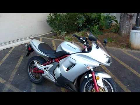 2006 Kawasaki Ninja 650r in Silver & Red 100514