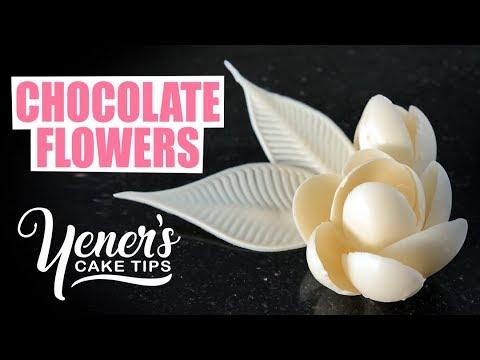 How to Make Simple CHOCOLATE FLOWERS Tutorial | Yeners Cake Tips with Serdar Yener from Yeners Way
