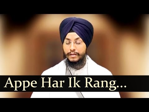 Appe Har Ik Rang Hai (Bhai Amarjit Singh ( PTL. Wale )
