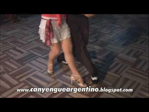 Clase de TANGO CANYENGUE ARGENTINO, con Quique Camargo y Mirta Milone, enero 2010