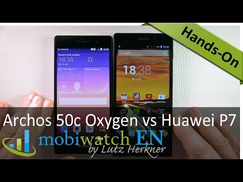 Archos 50c Oxygen vs. Huawei Ascend P7 - Review and Comparison