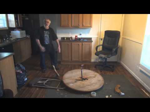 Angry Grandpa Destroys Kitchen Table!