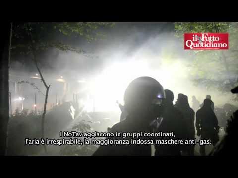 NoTav, scontri nella notte in Val Susa (22/07/2012)