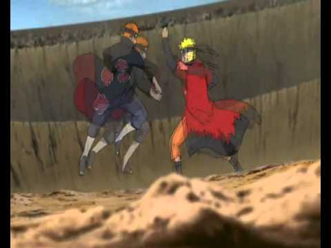 naruto vs pain linkin park