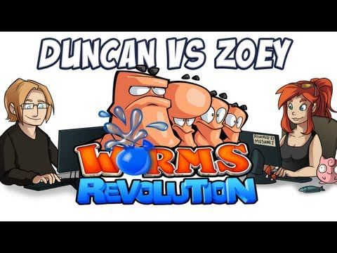 Worms Revolution - Duncan vs Zoey!