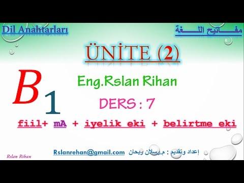 تعلم اللغة التركية (الدرس 7 من المستوى الثالث B1) (الكلام الغير مباشر في فعل الأمر)