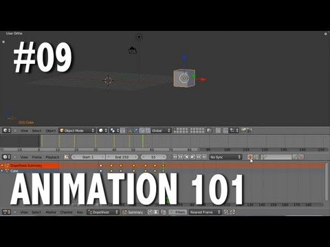 Blender 2.6 Tutorial 09 - Animation 101