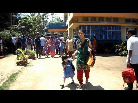 A girl's 1st day at Maria Montessori House of Children School, Guwahati