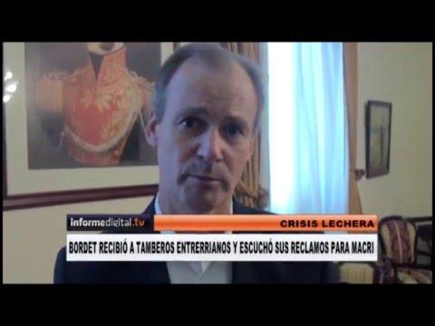 <b>Crisis lechera. </b>Bordet escuchó los reclamos de tamberos a Macri
