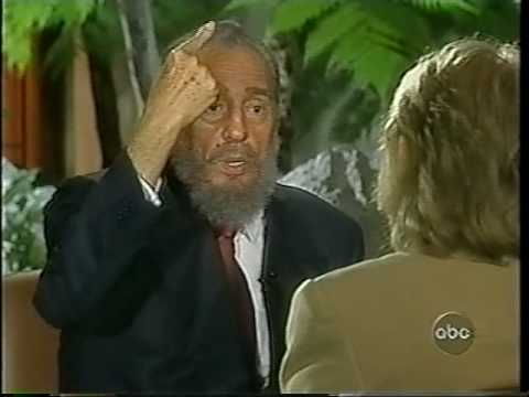 20/20 Fidel Castro interview - Barbara Walters [3of6]