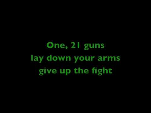Green Day - 21 guns with lyrics