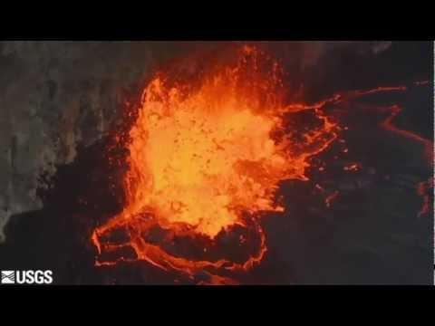 Kilauea Volcano lava lake reaches highest level