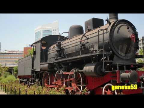 Locomotiva a vapore 625.153 a Genova Fiumara