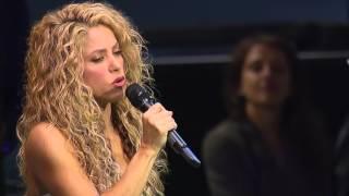 Shakira (UNICEF Goodwill Ambassador) performing Imagine (by John Lennon)