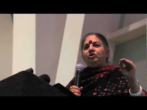 Dr. Vandana Shiva speaks about Monsanto and Prop 37 at LMU - October 30, 2012