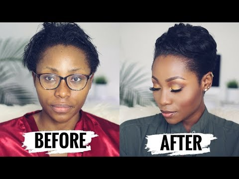 WATCH ME TRANSFORM: HOW TO STYLE SHORT RELAXED HAIR FOR BLACK WOMEN ( START TO FINISH) | DIMMA UMEH - UCaUfud8pU8ztkI45gxzPjzQ
