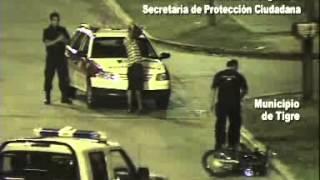 Tigre: motociclista alcoholizado fugó, chocó y terminó detenido por las cámaras de seguridad