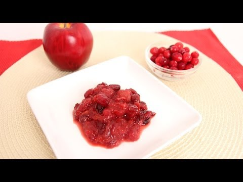 Cherry Apple Cranberry Sauce Recipe - Laura Vitale - Laura in the Kitchen Episode 668 - UCNbngWUqL2eqRw12yAwcICg