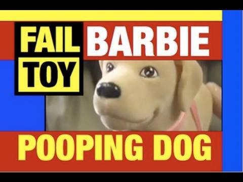Pooping Dog Barbie FAIL Toys Doll Funny Video Review Video Michael Mozart of JeepersMedia