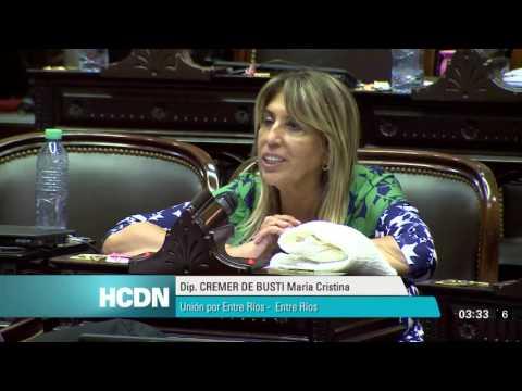 <b>Fondos buitre.</b> Discurso de Cristina Cremer