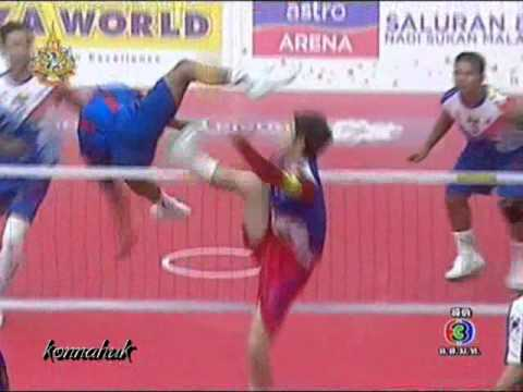 Myanmar Vs South Korea''2011 Sepak Takraw World Cup Set 2