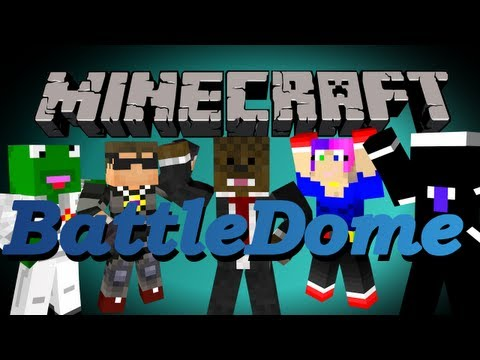 Minecraft BattleDome w/ SkyDoesMinecraft, Kermit, Nooch, and Dawn!