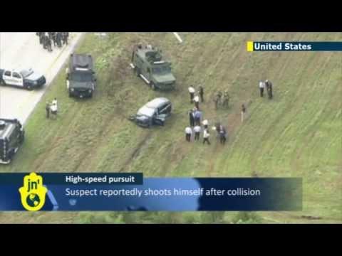 Во Флориде погоня за убийцей завершилась аварией.