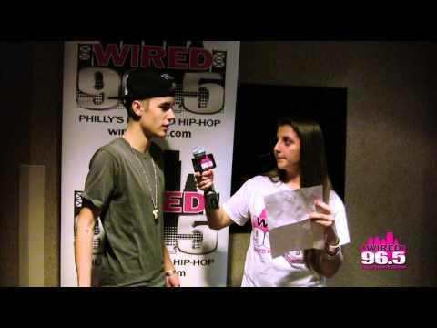 Lucky Wired 96.5 listener interviews Justin Bieber backstage