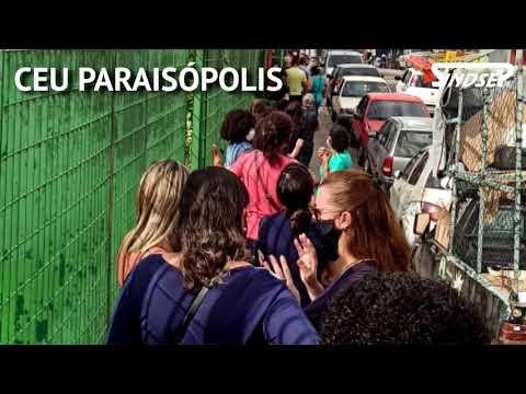 Filas e aglomerações dos profissionais de Educação nos CEUs de SP