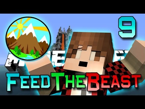 Minecraft: Feed The Beast Ep. 9 - Big Mountain Quarry! (Modded Survival Series)