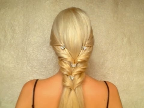 Princess hairstyle for long hair Feminine half up half down wedding hair tutorial