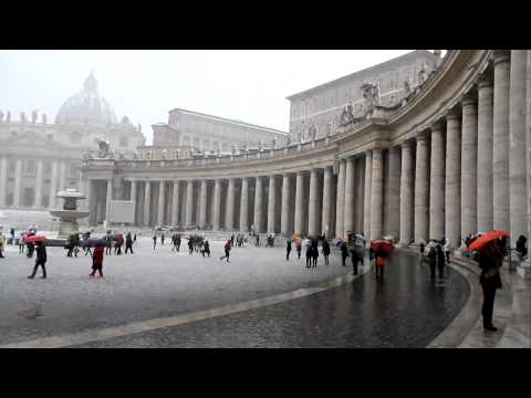 Neve a San Pietro, Roma - Neige a Rome 2012
