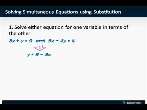 GMAT Math Prep - Algebra - Solving Simultaneous Equations Using Substitution by Knewton