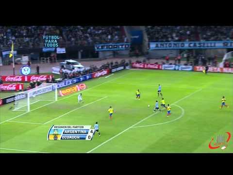 Argentina 4 - Ecuador 0 (1920 x 1080 FULL HD) (02-06-2012) Eliminatorias Brasil 2014 Fecha 5