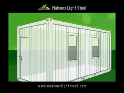 Assemblage de container habitable for Construction container habitable