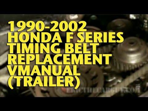 1990-2002 Honda Accord Timing Belt Replacement Video
