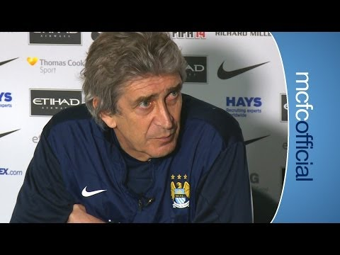 PELLEGRINI ON STRIKERS City v Wigan FA Cup press conference