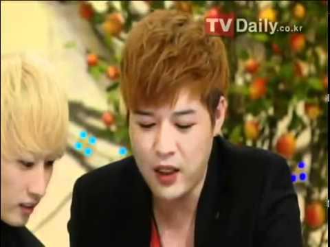 110829 KBS Hello Recording Scene (Kyuhyun Donghae Eunhyuk Shindong)