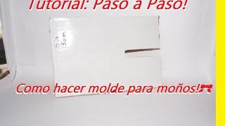 Youtube Molde De Carton Para Moño Boutique Paso A Paso Make And