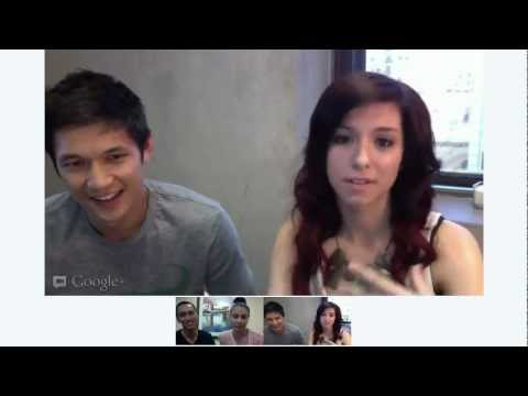 DS2DIO GOOGLE HANGOUT w/ Harry Shum, Mariel Martin, Keone Madrid & Christina Grimmie