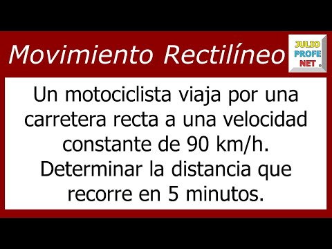 Problema sobre Movimiento Rectilíneo Uniforme