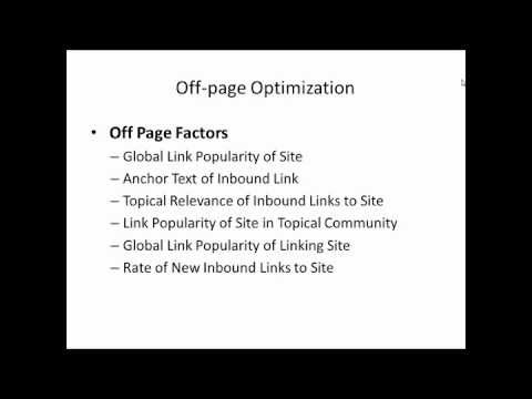 Give details about Off-page Optimization
